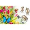 Кольца и серьги серебро с золотыми вставками