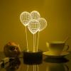 Оригинальный подарок.  3D Led светильник.  Яркий и экономичный.